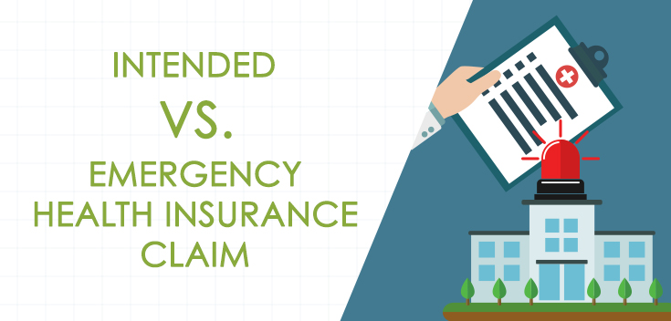 Infographic: Intended vs. Emergency Health Insurance Claim